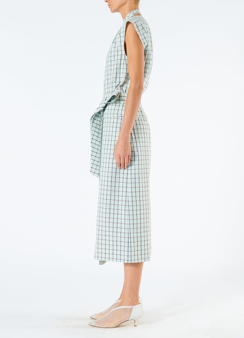 Elliot Check Wrap Skirt Mint Multi-6