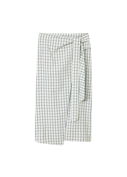 Elliot Check Wrap Skirt Mint Multi-2