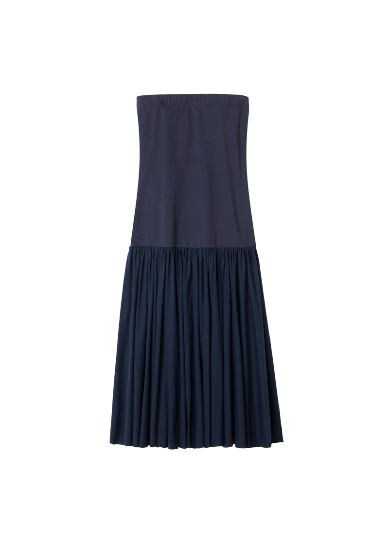 Punto Milano Strapless Dress Navy-2