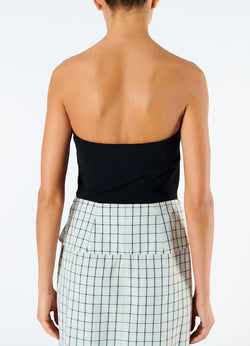 Structured Crepe Strapless Top Black-3