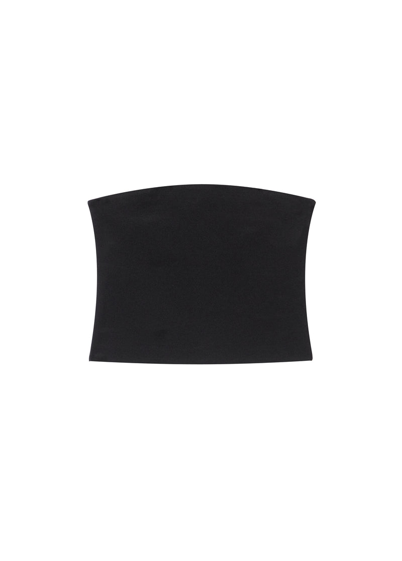 Structured Crepe Strapless Top Black-2