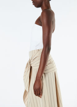 Structured Crepe Strapless Top White-5