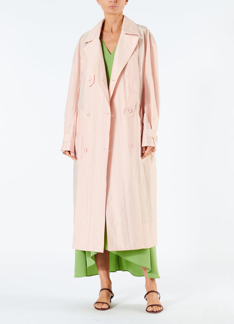 Spring Windbreaker Trench Blush-7