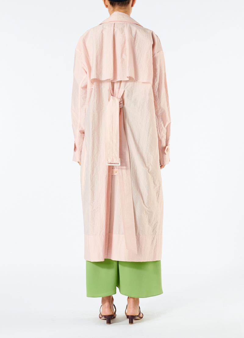 Spring Windbreaker Trench Blush-4