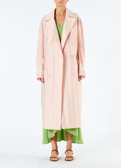 Spring Windbreaker Trench Blush-1