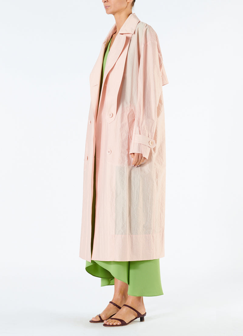 Spring Windbreaker Trench Blush-2