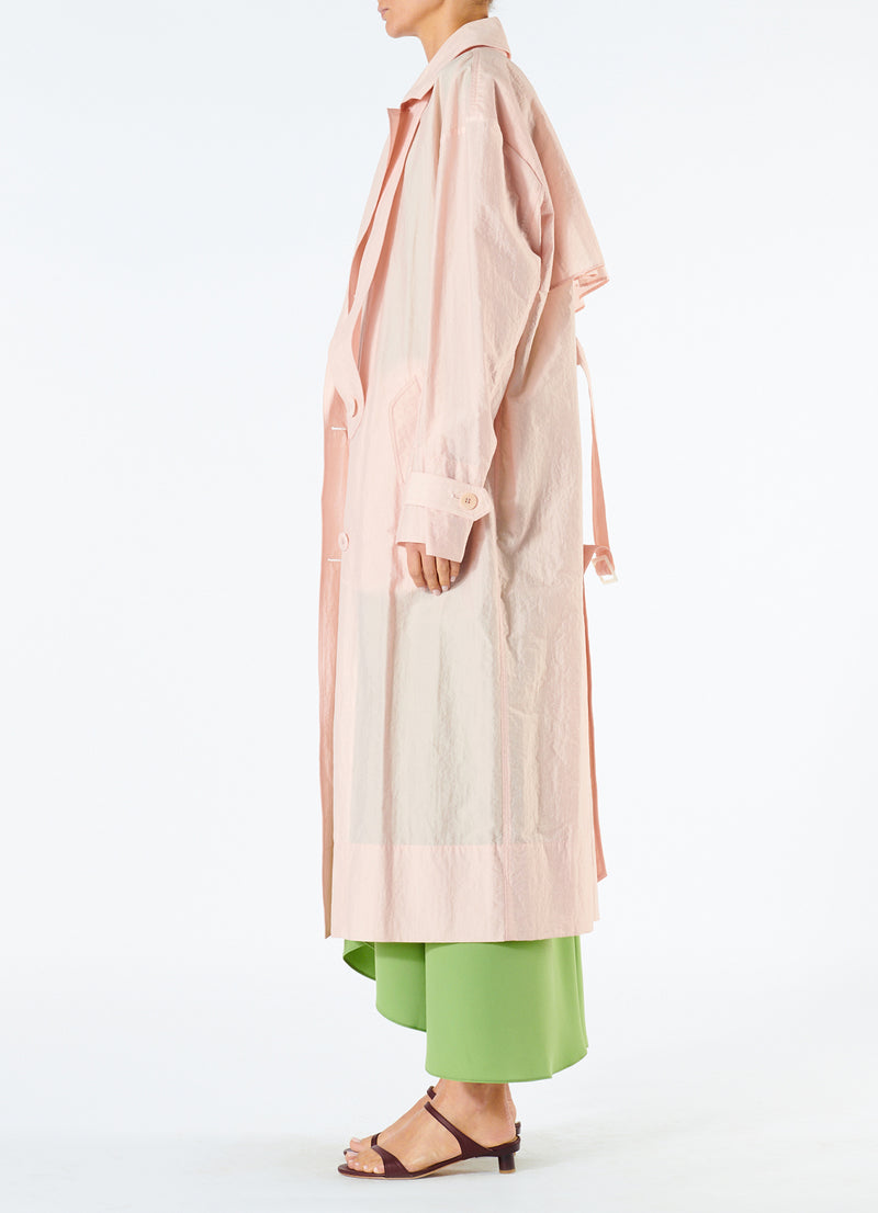 Spring Windbreaker Trench Blush-3