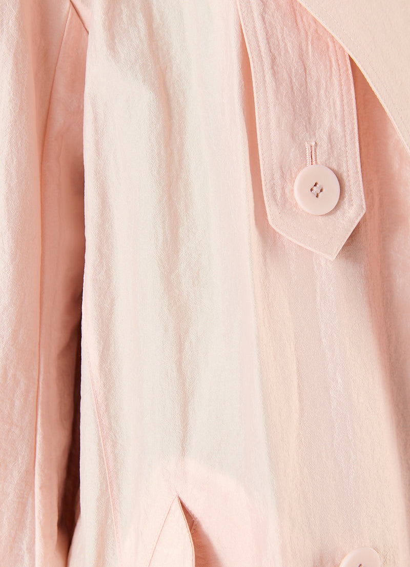 Spring Windbreaker Trench Blush-5