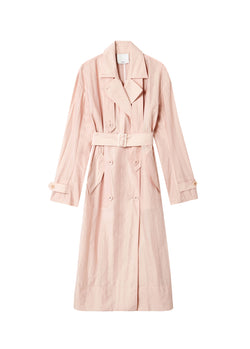 Spring Windbreaker Trench Blush-8