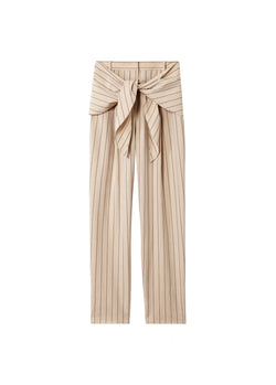Tropical Wool Sculpted Pant with Removable Tie Hazelwood Multi-7