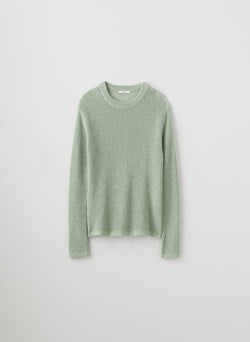 Crispy Cotton Crewneck Pullover Green Multi-8