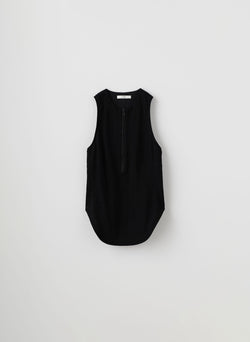 Cotton Pique Corset Tank Black-8