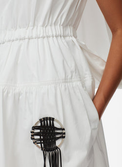 Craft Loop Dress White-6