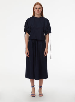 Harrison Chino Full Skirt Navy-9