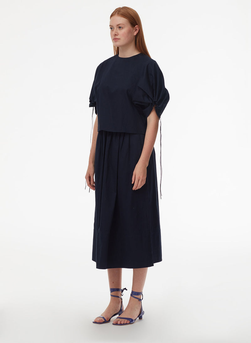 Harrison Chino Full Skirt Navy-10