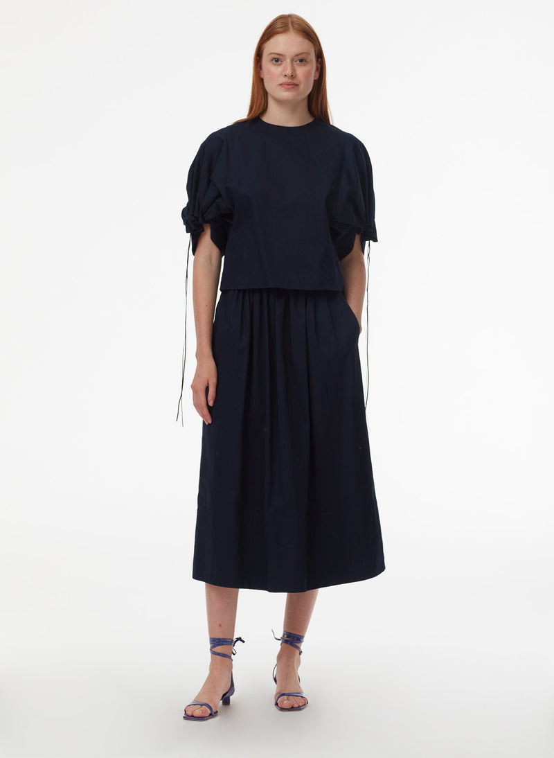 Harrison Chino Full Skirt Navy-13