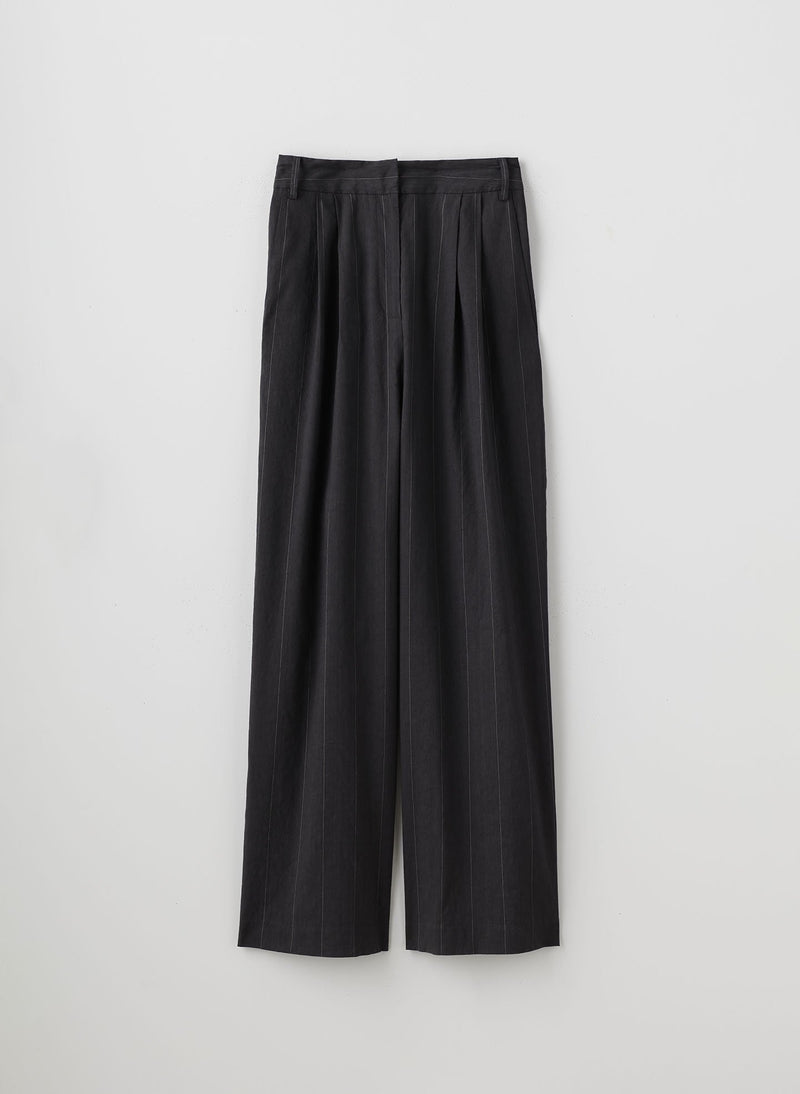 Isselin Stripe Stella Pant Grey Multi-8