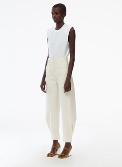 Myriam Twill Sculpted Pant Ivory-2