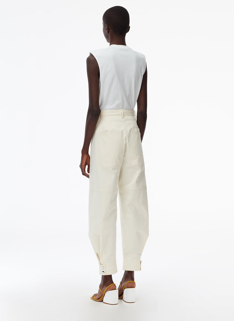 Myriam Twill Sculpted Pant Ivory-3