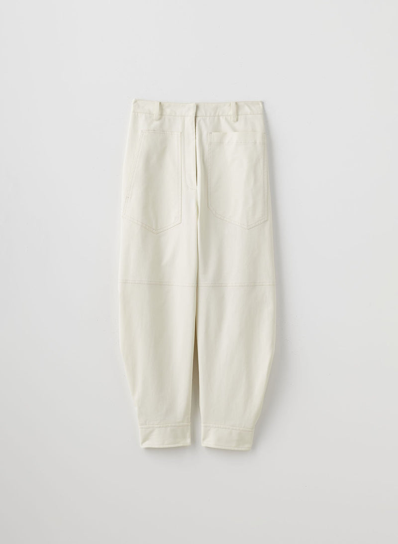 Myriam Twill Sculpted Pant Ivory-8