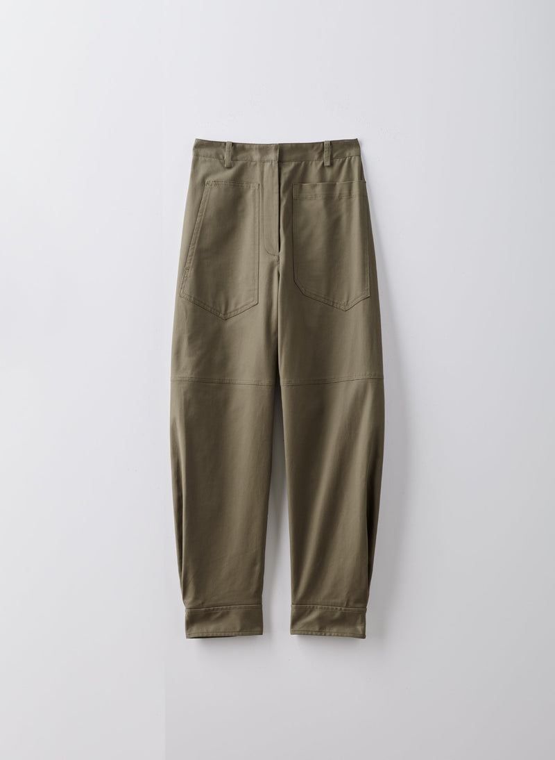 Myriam Twill Sculpted Pant Utility Brown-16