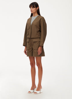 Myriam Twill Cropped Jacket – Tibi Official