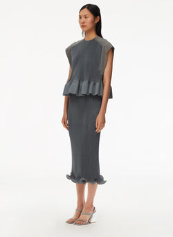 Pleated Dress Storm Grey-10
