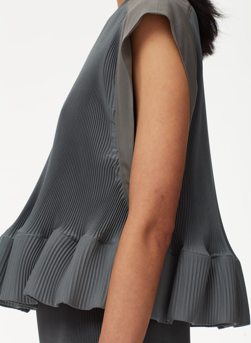 Pleated Dress Storm Grey-13