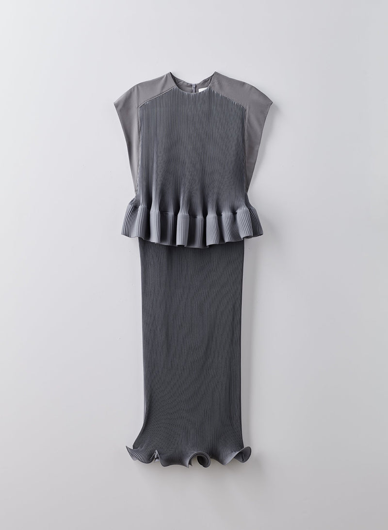 Pleated Dress Storm Grey-16