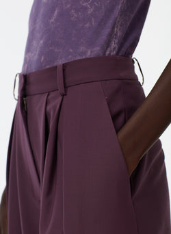 Tropical Wool Balloon Pant Huckleberry-5