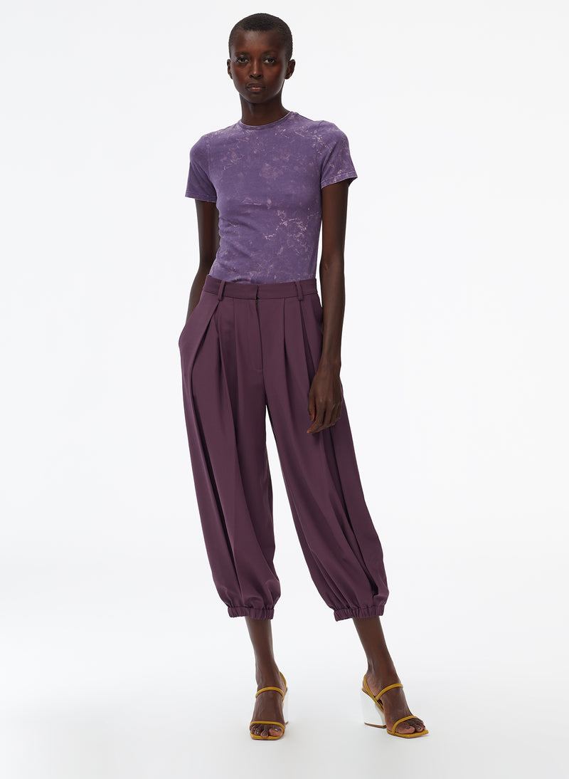 Tropical Wool Balloon Pant Huckleberry-6