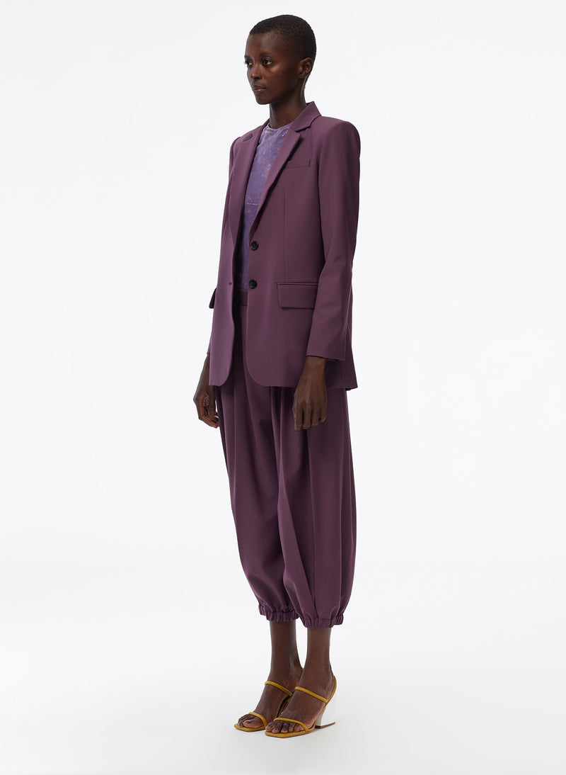 Tropical Wool Blazer Huckleberry-2