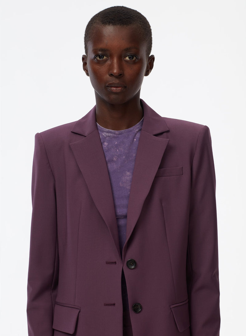 Tropical Wool Blazer Huckleberry-5