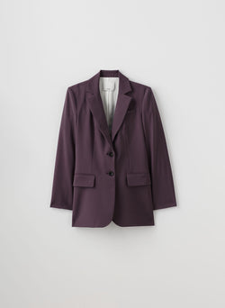 Tropical Wool Blazer Huckleberry-8