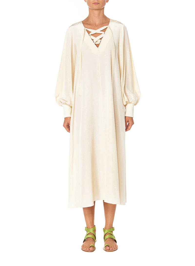 Silk CDC Tunic Dress Butter-1