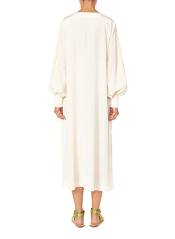 Silk CDC Tunic Dress Butter-2