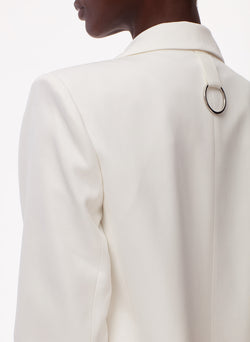 Soft Spring Suiting Cutout Blazer White-4