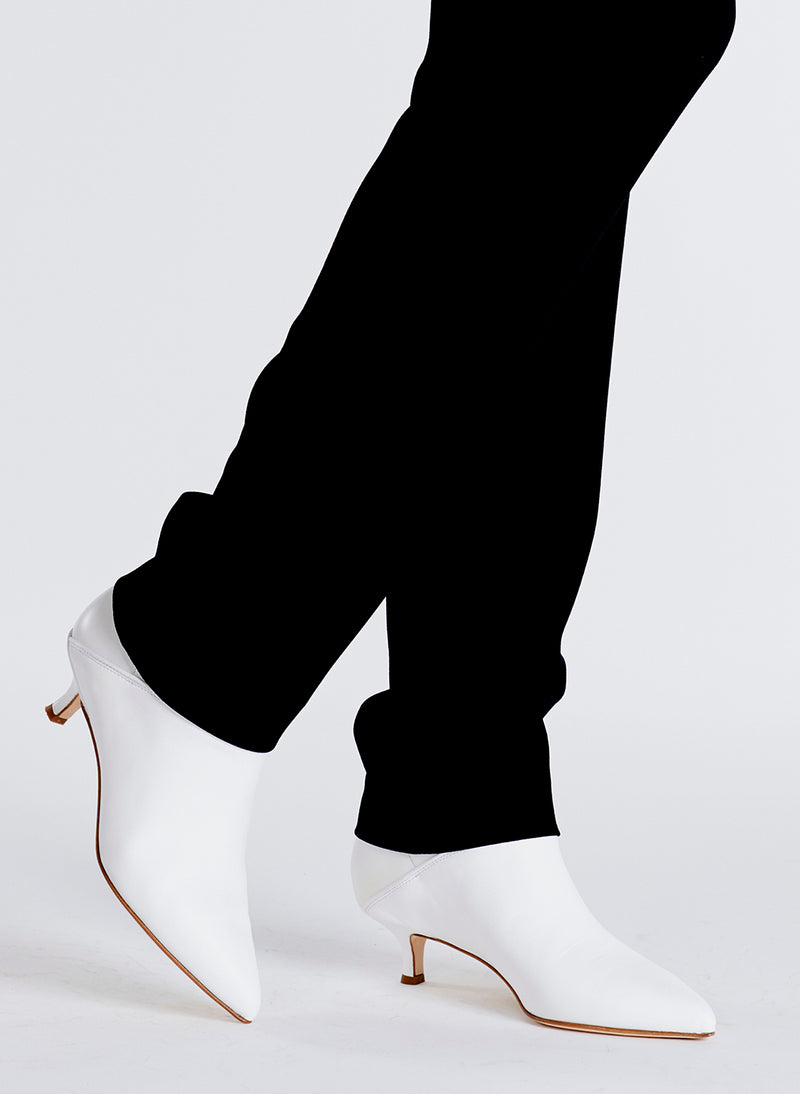 Jean Booties White-1