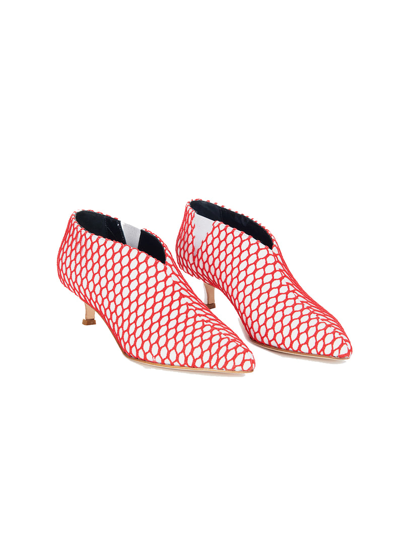 Joe Booties White/Red Multi-2