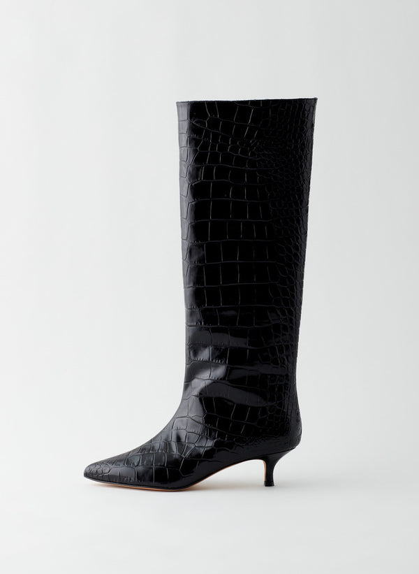 Collier Croc Embossed Boot