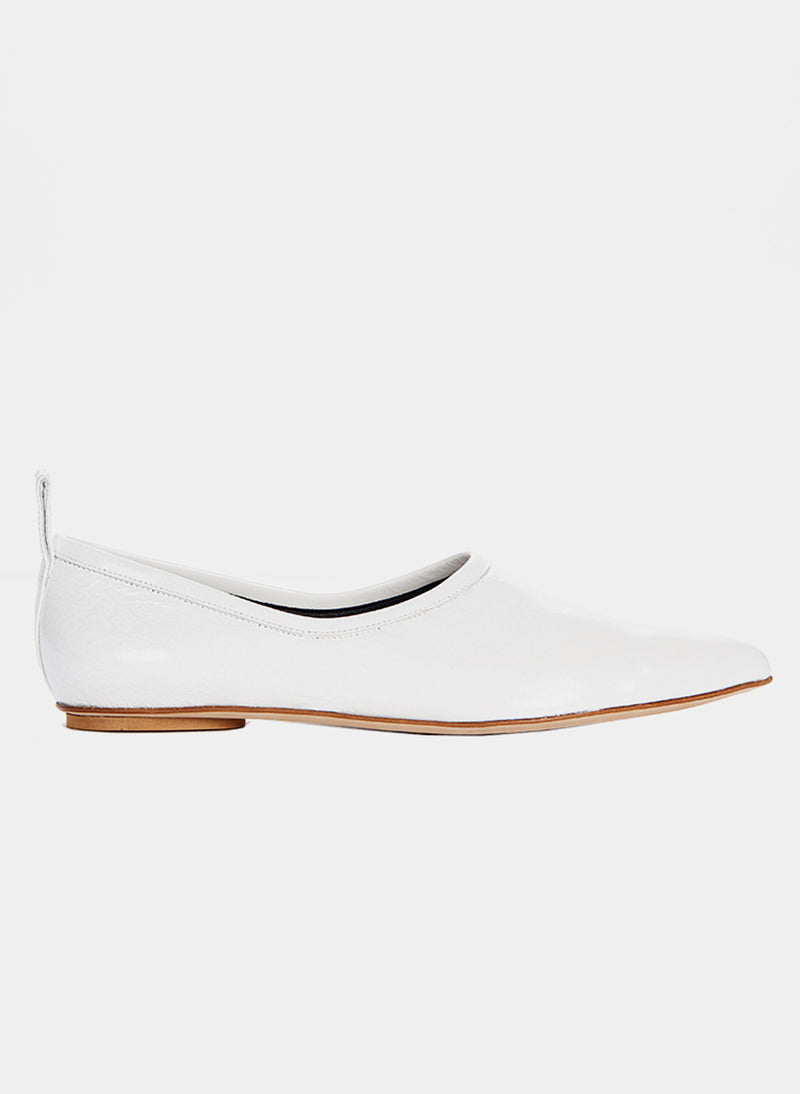 John Crinkled Patent Flat Bright White-1