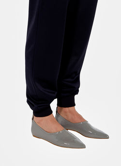 John Crinkled Patent Flat Heather Grey-5