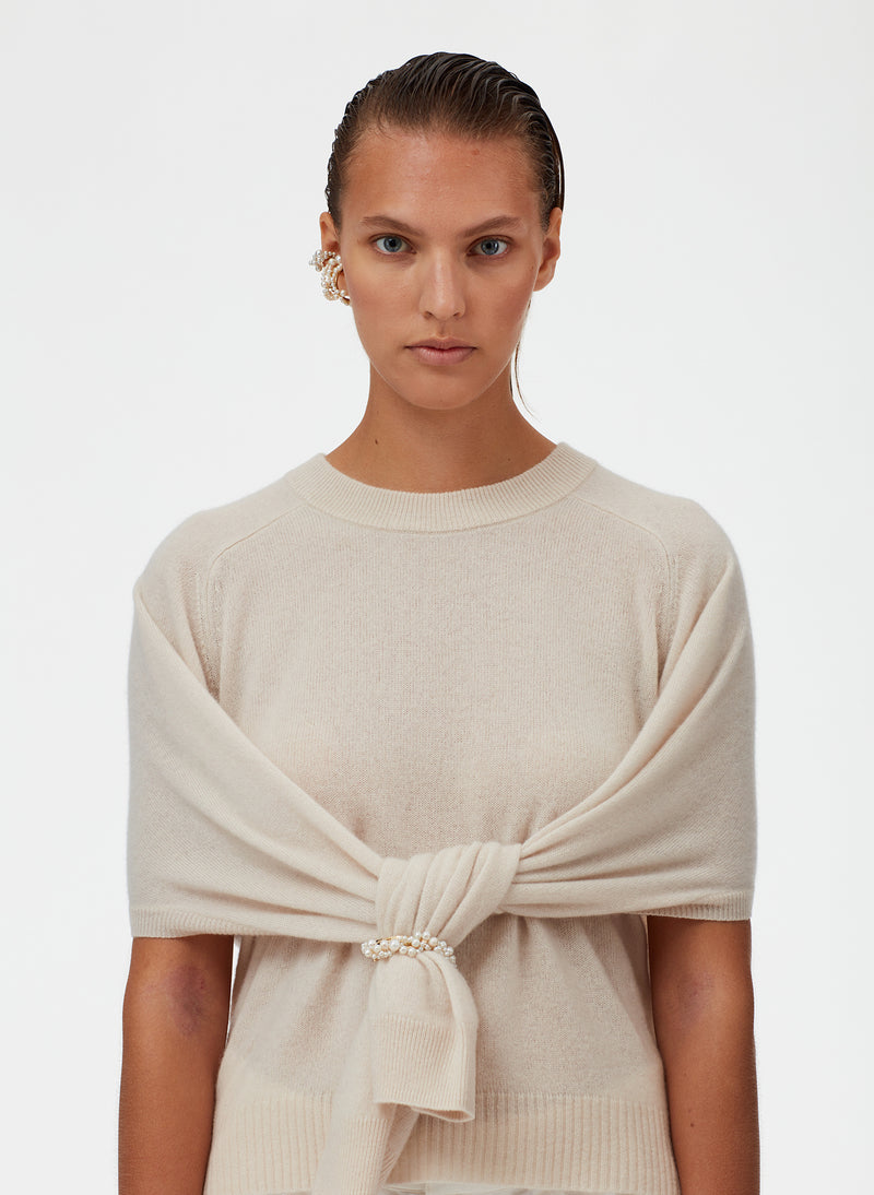 Featherweight Cashmere Open Sleeve Cocoon Sweater Featherweight Cashmere Open Sleeve Cocoon Sweater