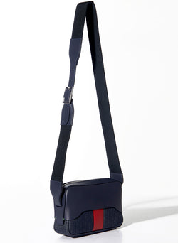 Tibi Bébé Bag Navy/Red-2