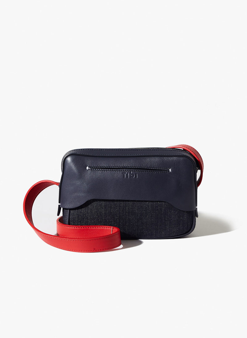 Tibi Bébé Bag Navy/Red/Yellow Multi-3