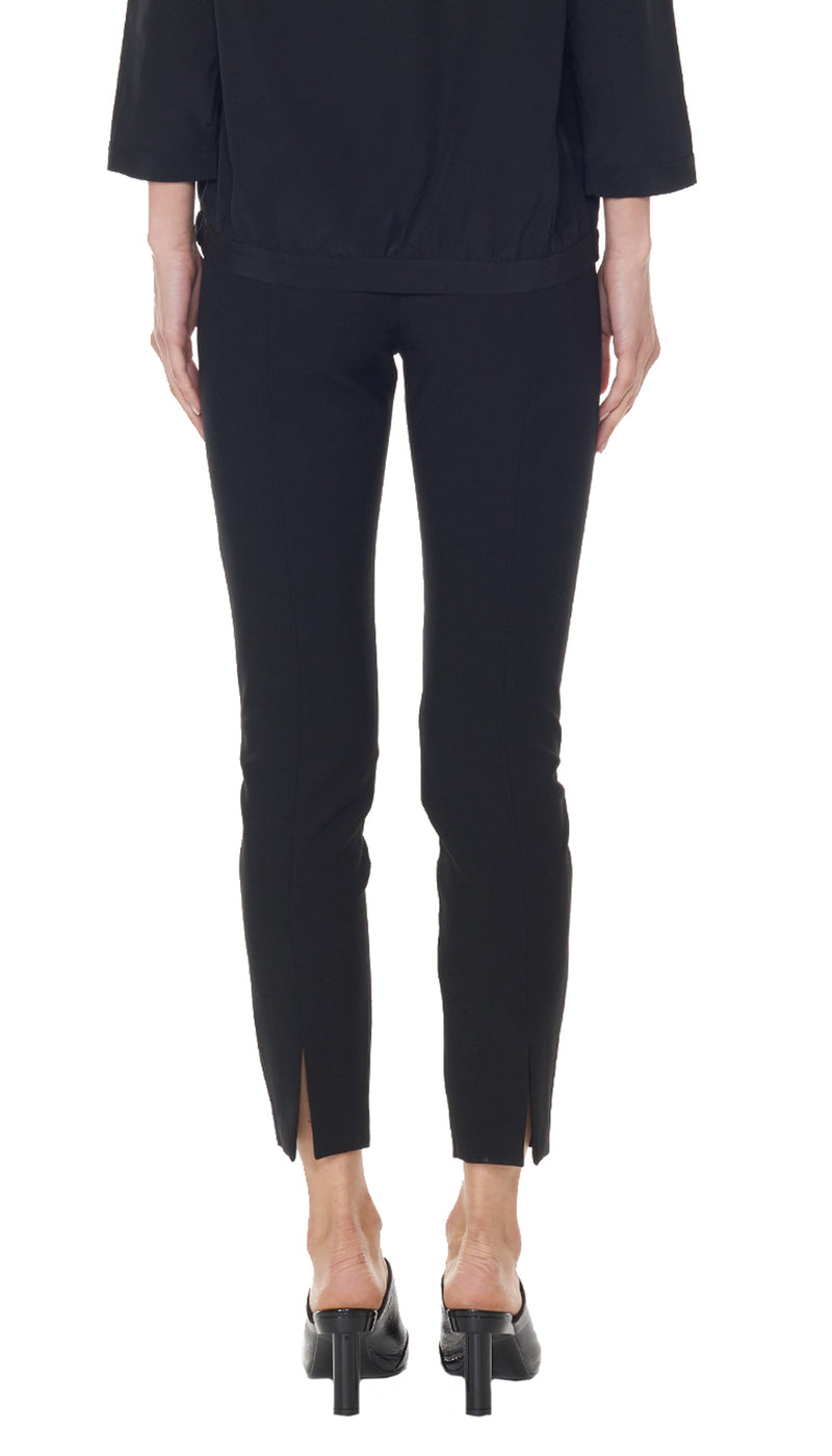 Anson Stretch Seamed Pant Black-2