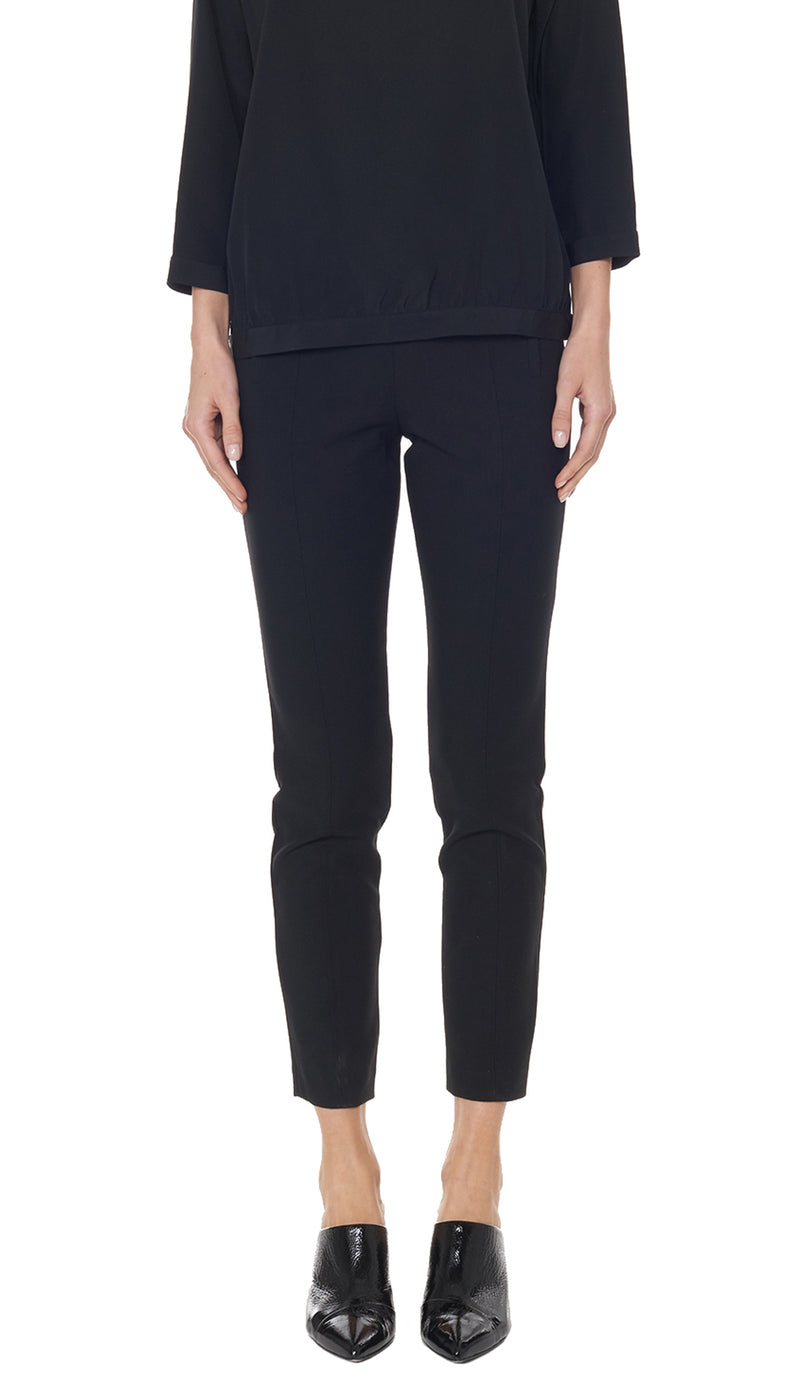 Anson Stretch Seamed Pant Black-1