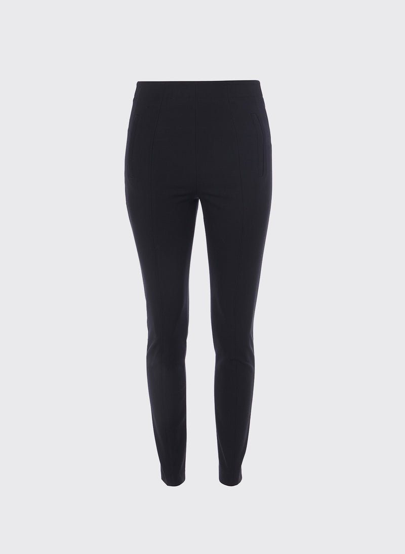 Anson Stretch Seamed Pant Black-5