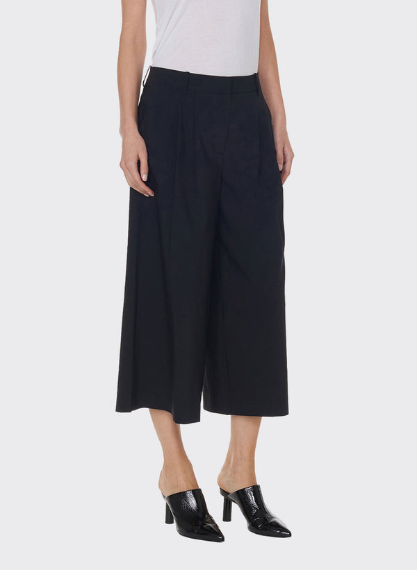 Tropical Wool Edie Pleated Culotte