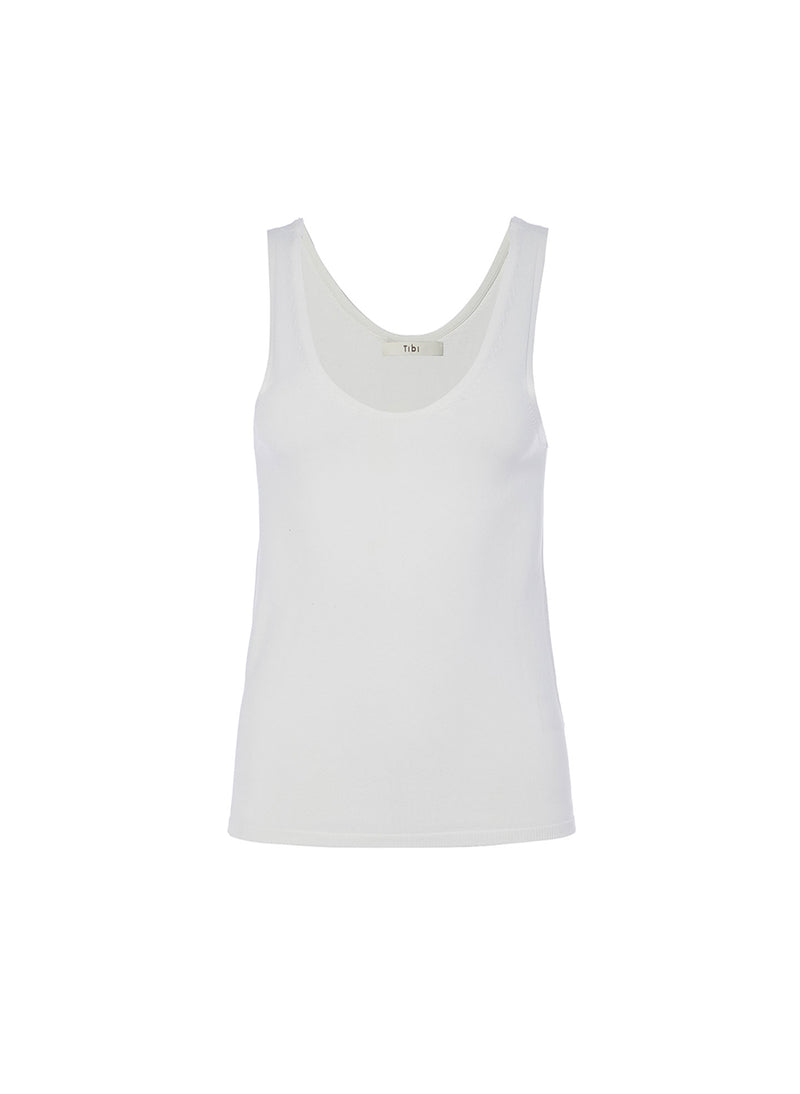 Mini Seamless Sweater Tank Ivory-5